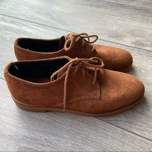Roots Suede Lace Up Flats Shoes